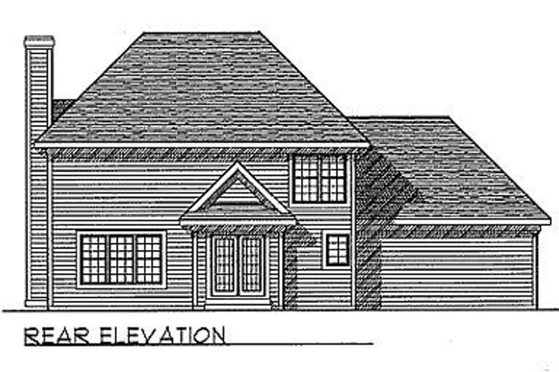 Traditional Exterior - Rear Elevation Plan #70-239 - Houseplans.com