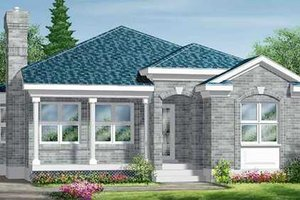 European Exterior - Front Elevation Plan #25-4226