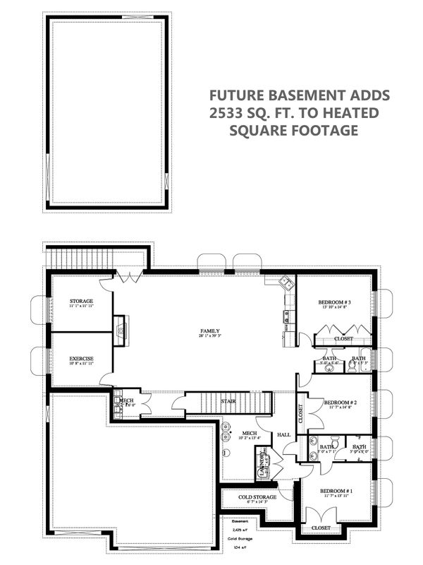 Dream House Plan - Future Finished Basement