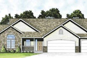 Home Plan - Traditional Exterior - Front Elevation Plan #58-234