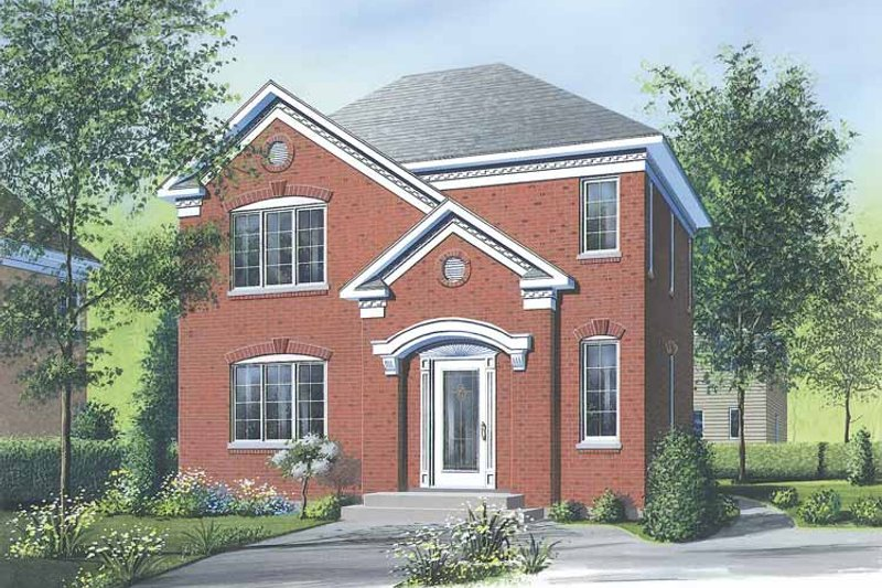 European Exterior - Front Elevation Plan #23-2365