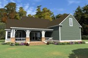 Bungalow Style House Plan - 4 Beds 3 Baths 3326 Sq/Ft Plan #63-404 Exterior - Rear Elevation