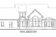 House Plan Design - Country Exterior - Rear Elevation Plan #20-1029
