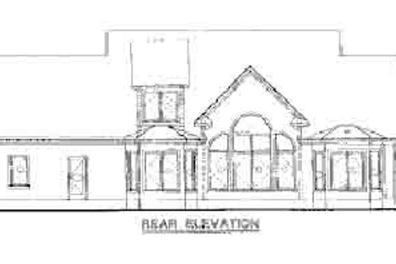Country Exterior - Rear Elevation Plan #20-1029 - Houseplans.com
