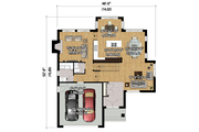 Contemporary Style House Plan - 4 Beds 2 Baths 2979 Sq/Ft Plan #25-4339 Floor Plan - Main Floor Plan