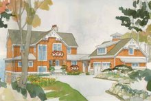 Architectural House Design - Craftsman Exterior - Front Elevation Plan #928-64