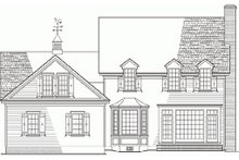 Country Exterior - Rear Elevation Plan #137-115