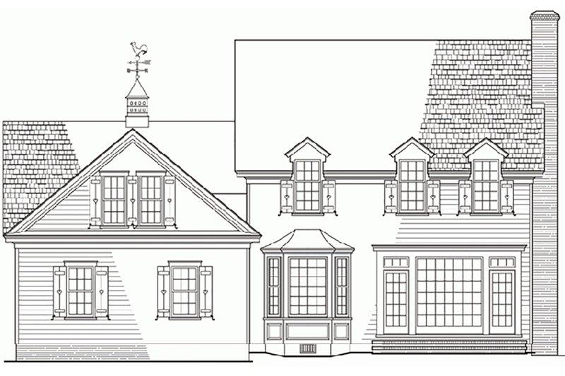 Country Exterior - Rear Elevation Plan #137-115 - Houseplans.com