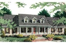 Architectural House Design - Country Exterior - Front Elevation Plan #406-134