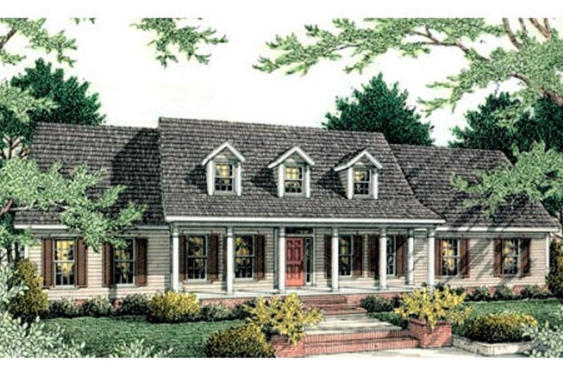 Country Exterior - Front Elevation Plan #406-134 - Houseplans.com