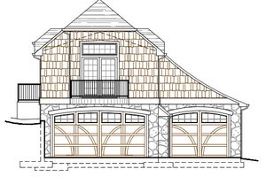 Craftsman Exterior - Front Elevation Plan #487-3