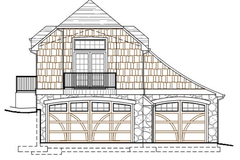 Craftsman Style House Plan - 1 Beds 1 Baths 642 Sq/Ft Plan #487-3 Exterior - Front Elevation