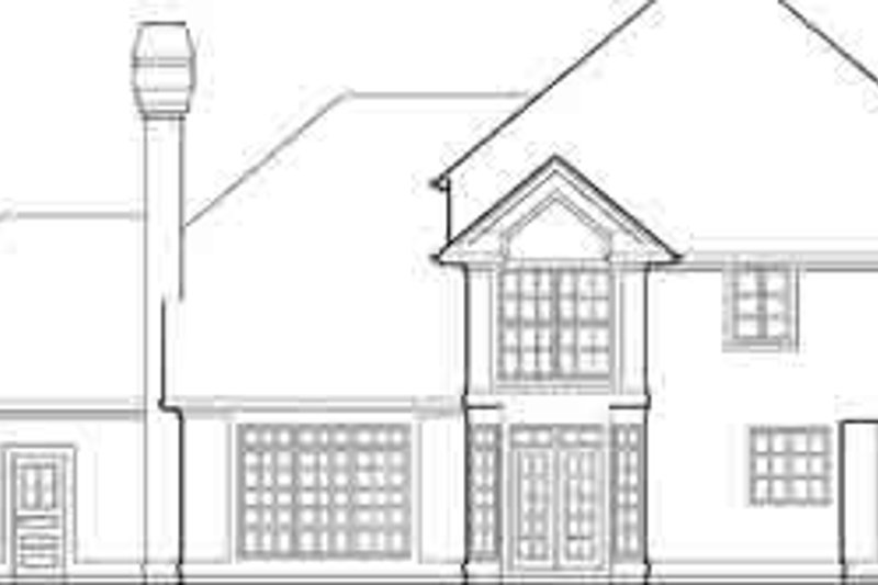 Traditional Exterior - Rear Elevation Plan #48-223 - Houseplans.com