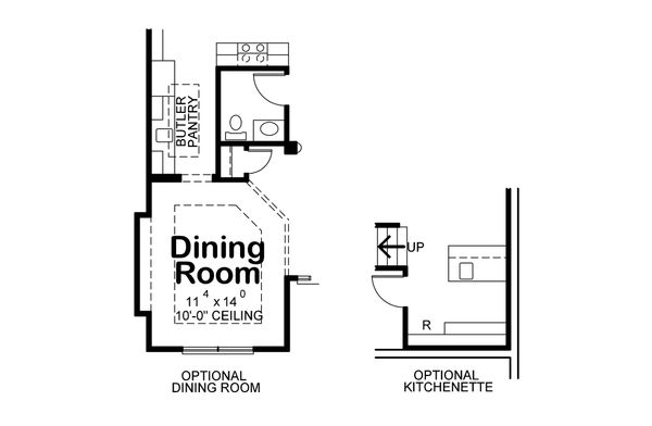 Home Plan - Optional Dining Room & LL Kitchen
