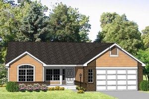 Ranch Exterior - Front Elevation Plan #116-196