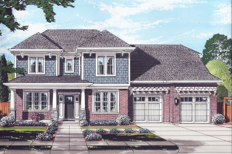 Architectural House Design - Traditional Exterior - Front Elevation Plan #46-883