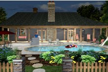 Cottage Exterior - Rear Elevation Plan #56-716