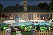 House Design - Cottage Exterior - Rear Elevation Plan #56-716