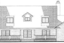 House Blueprint - Southern Exterior - Rear Elevation Plan #72-453