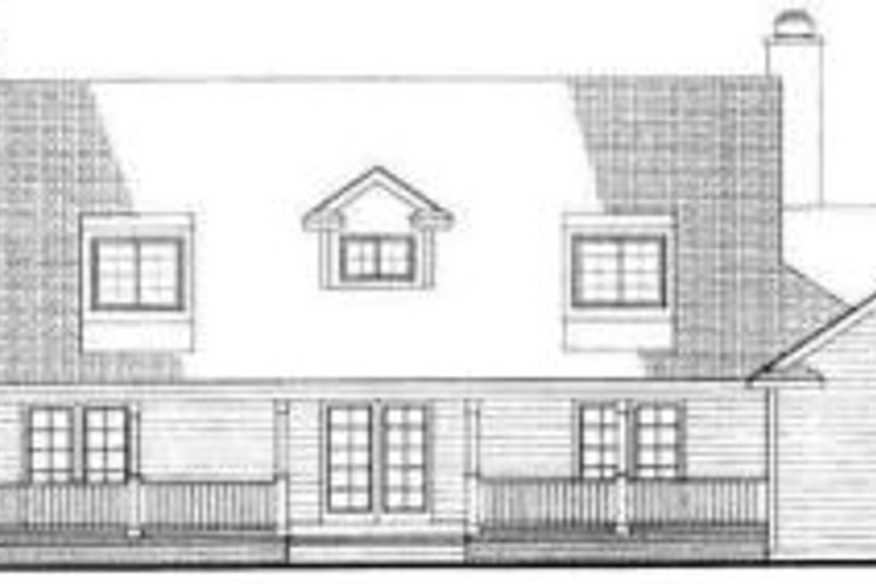 Southern Exterior - Rear Elevation Plan #72-453 - Houseplans.com