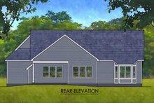 House Plan Design - Ranch Exterior - Rear Elevation Plan #1010-237