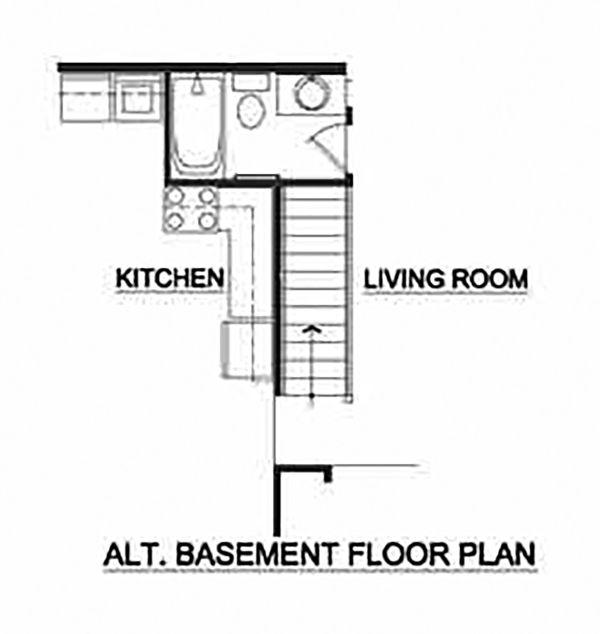 Craftsman Floor Plan - Other Floor Plan #116-304