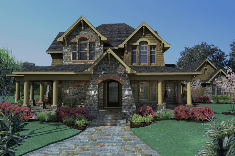 Dream House Plan - Craftsman Exterior - Front Elevation Plan #120-167