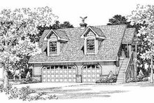 House Blueprint - Country Exterior - Front Elevation Plan #72-286