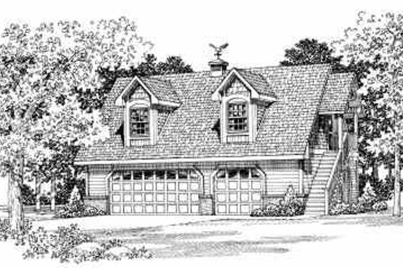 Dream House Plan - Country Exterior - Front Elevation Plan #72-286