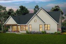 House Plan Design - Farmhouse Exterior - Rear Elevation Plan #48-988
