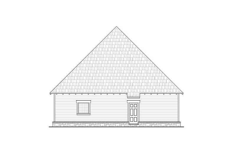 Craftsman Exterior - Rear Elevation Plan #21-254 - Houseplans.com
