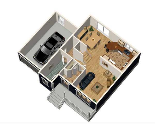 Contemporary Floor Plan - Main Floor Plan Plan #25-4297