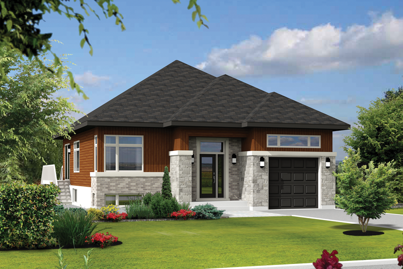 Contemporary Style House Plan - 2 Beds 1 Baths 1176 Sq/Ft Plan #25-4306 Exterior - Front Elevation