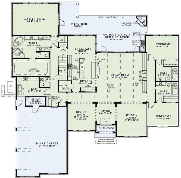 European Floor Plan - Main Floor Plan #17-2477