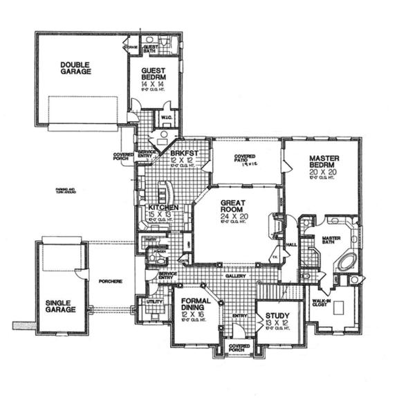 European Floor Plan - Main Floor Plan Plan #310-1256