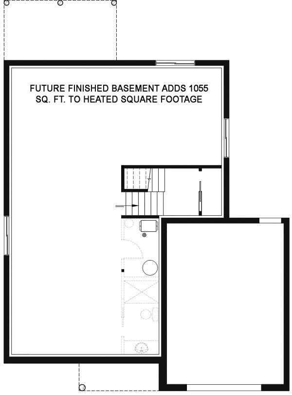 Contemporary Floor Plan - Lower Floor Plan Plan #23-2706