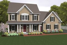 House Plan Design - Colonial Exterior - Front Elevation Plan #1010-122