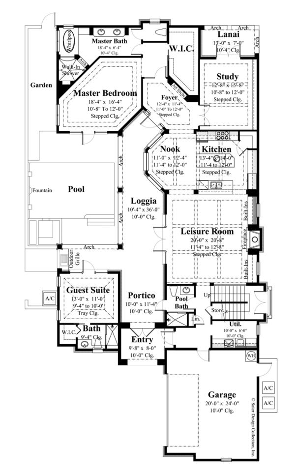 House Plan Design - European Floor Plan - Main Floor Plan #930-445