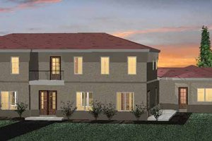 House Plan Design - Mediterranean Exterior - Front Elevation Plan #937-16