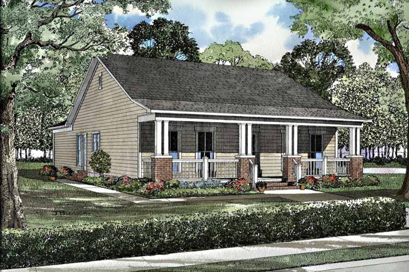 Country Exterior - Front Elevation Plan #17-3147