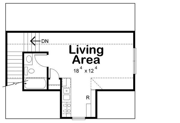 Traditional Floor Plan - Upper Floor Plan Plan #20-2308
