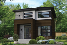 Architectural House Design - Contemporary Exterior - Front Elevation Plan #25-4898