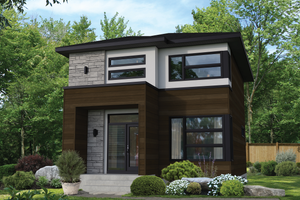 Contemporary Exterior - Front Elevation Plan #25-4898