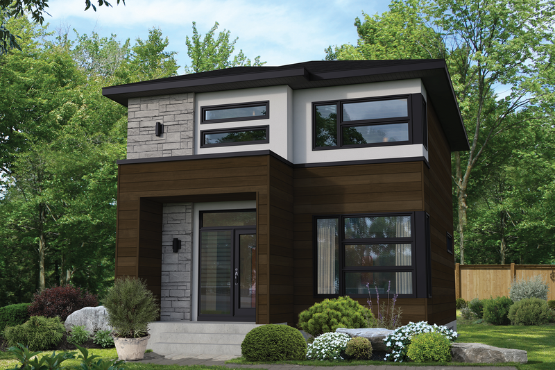 Home Plan - Contemporary Exterior - Front Elevation Plan #25-4898