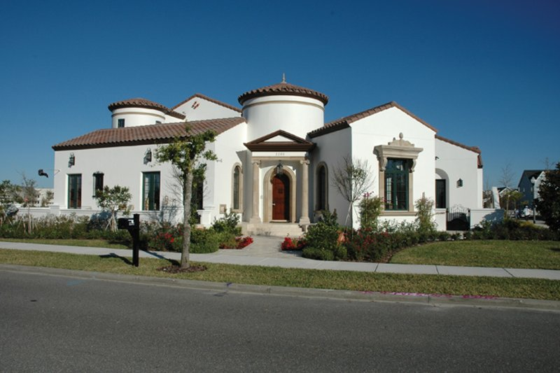 Architectural House Design - Mediterranean Exterior - Front Elevation Plan #1058-10