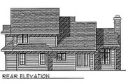 Traditional Style House Plan - 4 Beds 2.5 Baths 2044 Sq/Ft Plan #70-290 Exterior - Rear Elevation