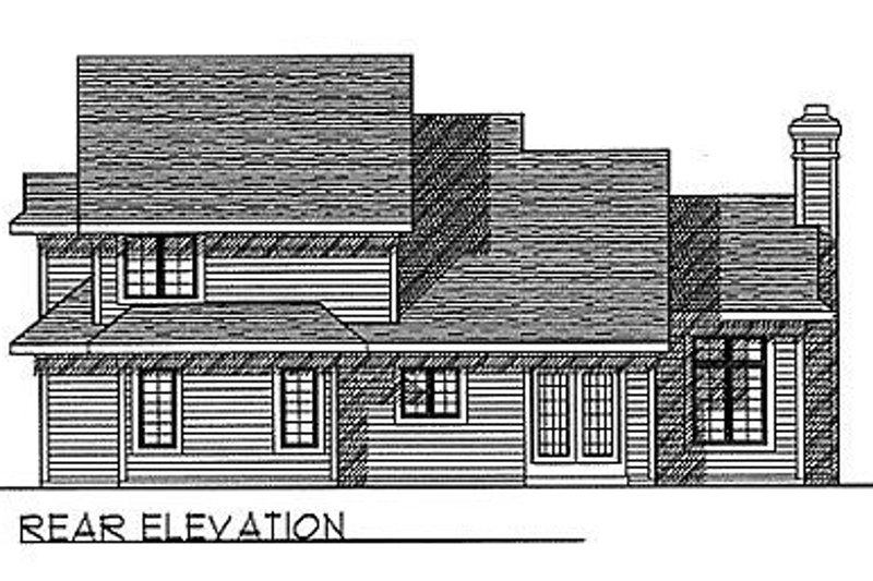 Traditional Exterior - Rear Elevation Plan #70-290 - Houseplans.com