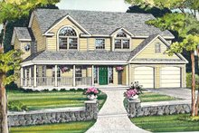 Dream House Plan - Country Exterior - Front Elevation Plan #314-201