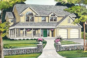 Architectural House Design - Country Exterior - Front Elevation Plan #314-201