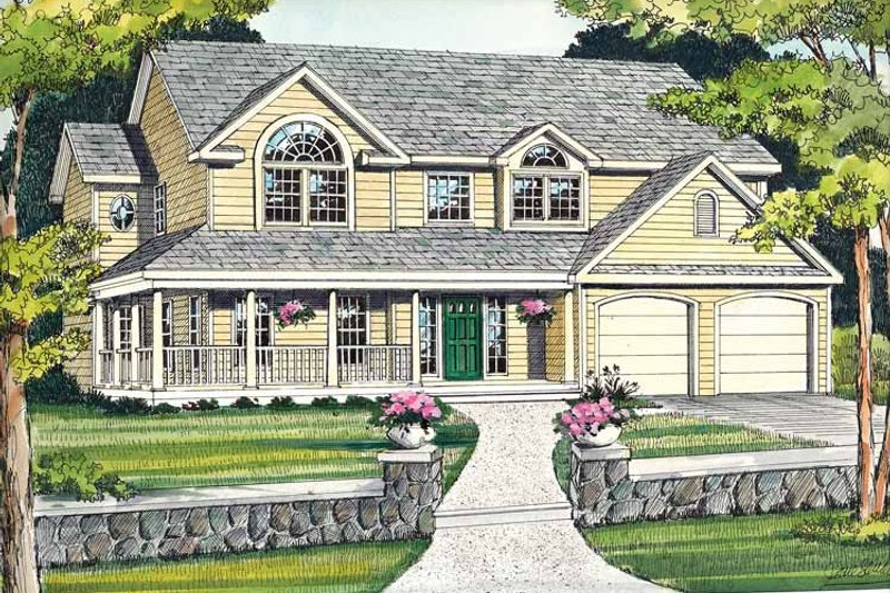 Country Exterior - Front Elevation Plan #314-201